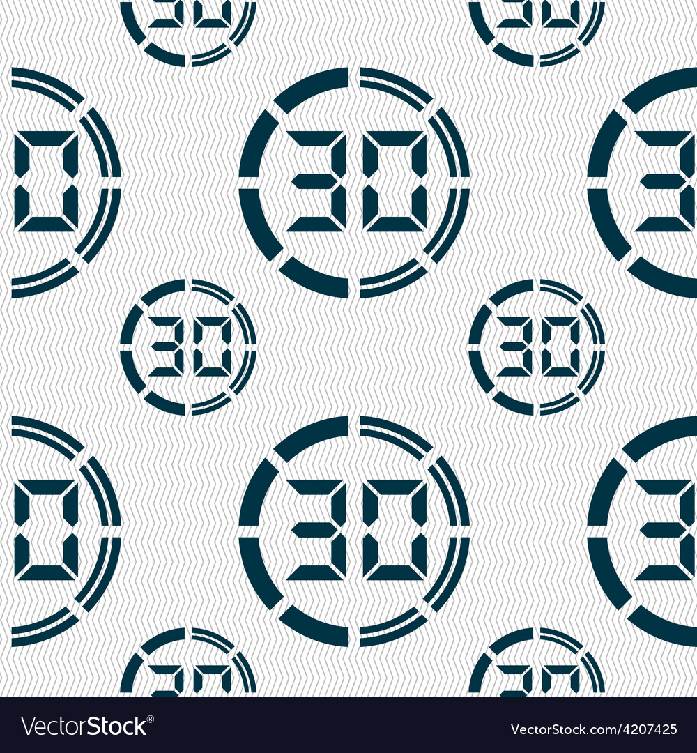 30 second stopwatch icon sign seamless pattern vector | Price: 1 Credit (USD $1)