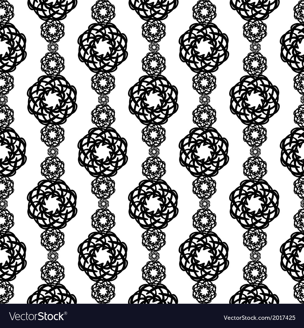 Elaborate black and white vertical pattern from vector | Price: 1 Credit (USD $1)