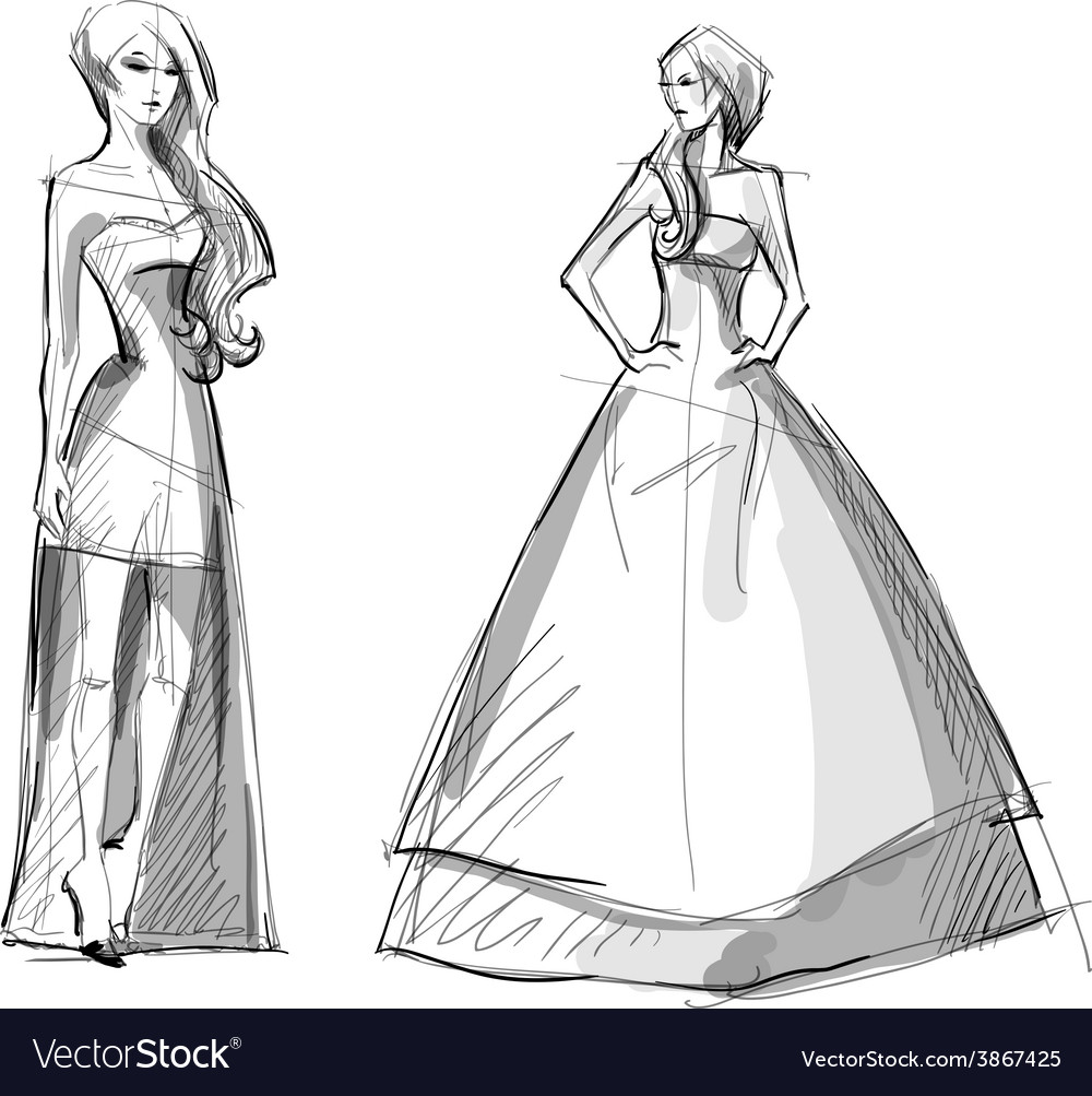 Fashion hand drawn vector   Price: 1 Credit (USD $1)