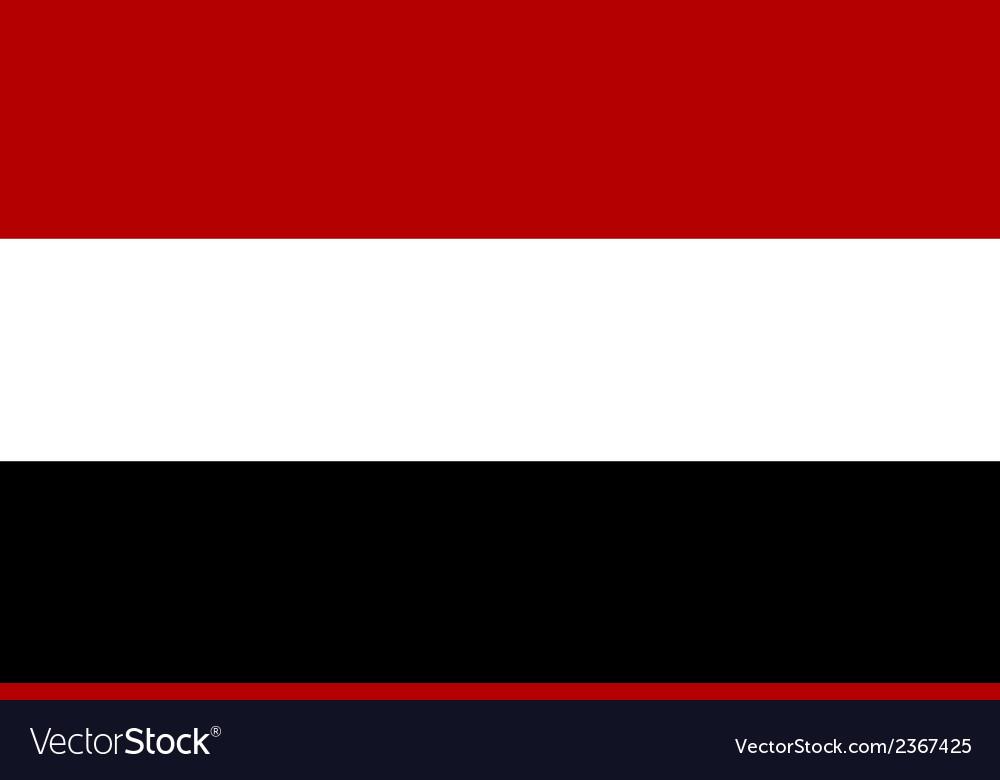 Flag of yemen vector | Price: 1 Credit (USD $1)