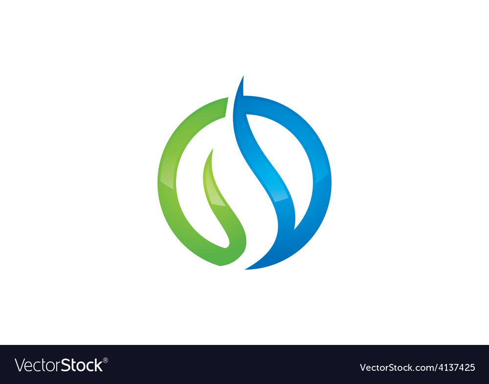 Round swirl abstract business logo vector | Price: 1 Credit (USD $1)