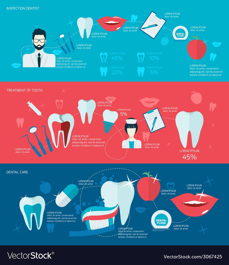 Teeth banner set vector | Price: 1 Credit (USD $1)
