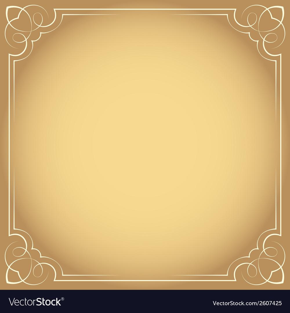 Vintage beautiful elegant frame element for design vector | Price: 1 Credit (USD $1)