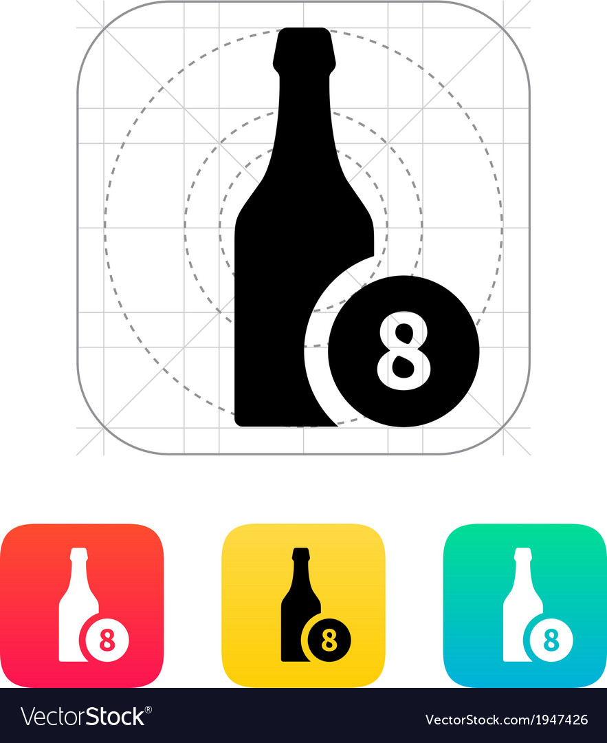 Beer bottle with number icon vector | Price: 1 Credit (USD $1)