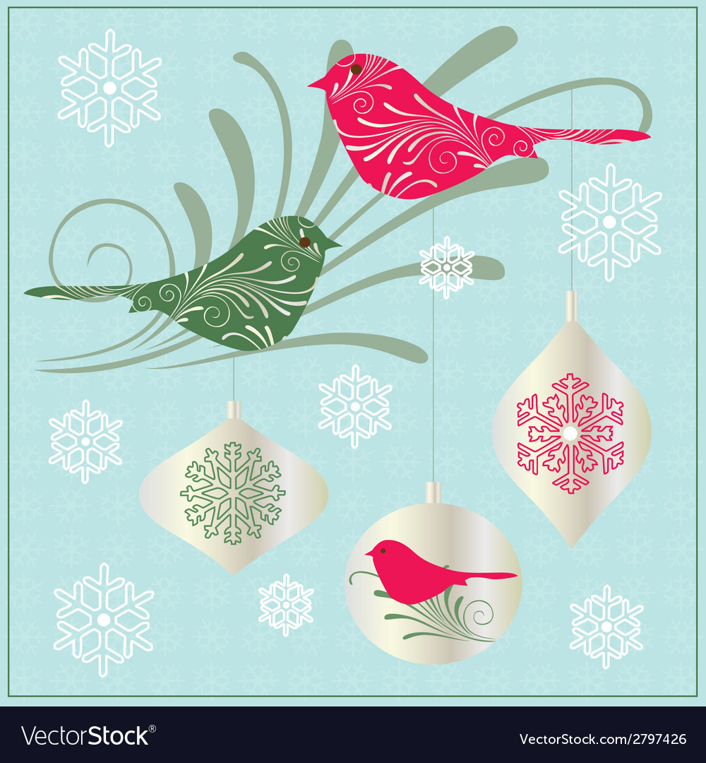 Birds and ornaments vector | Price: 1 Credit (USD $1)