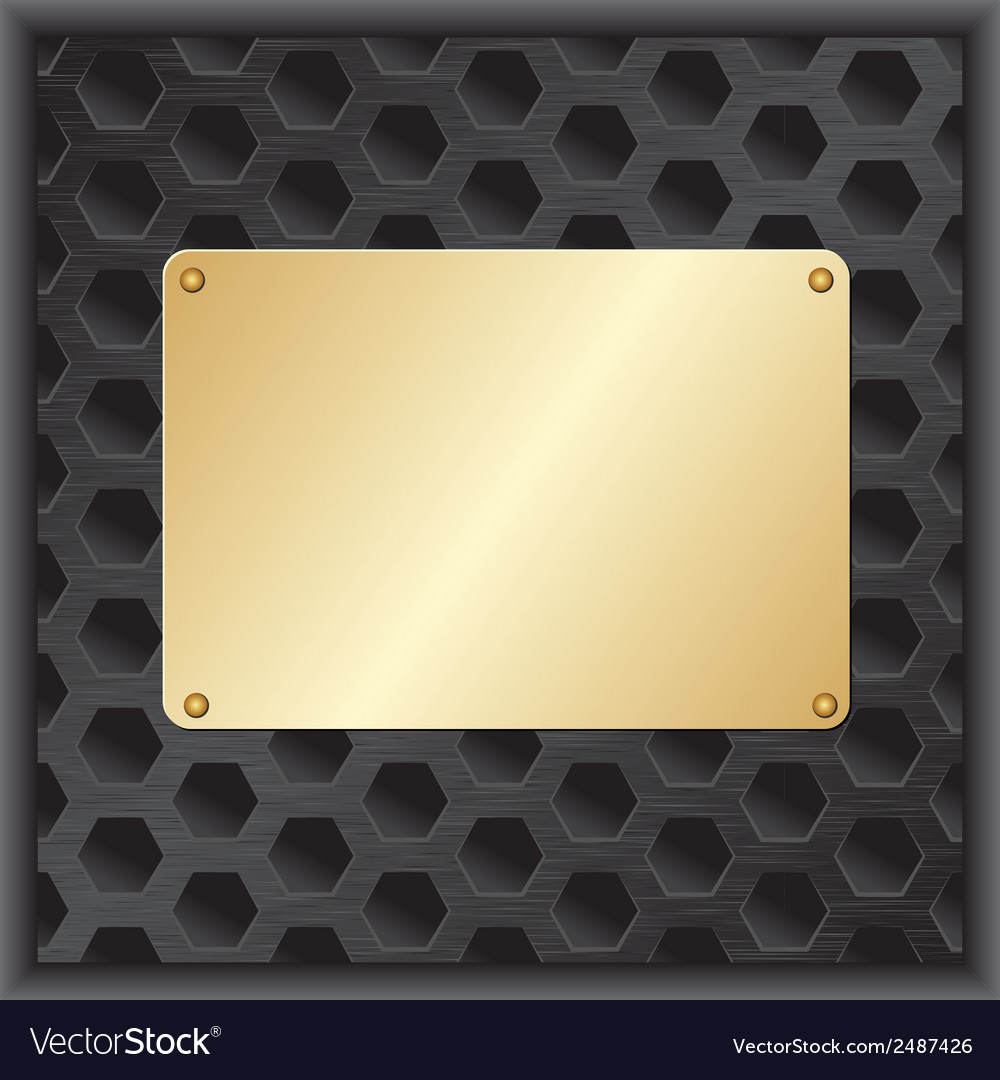Golden plaque vector | Price: 1 Credit (USD $1)