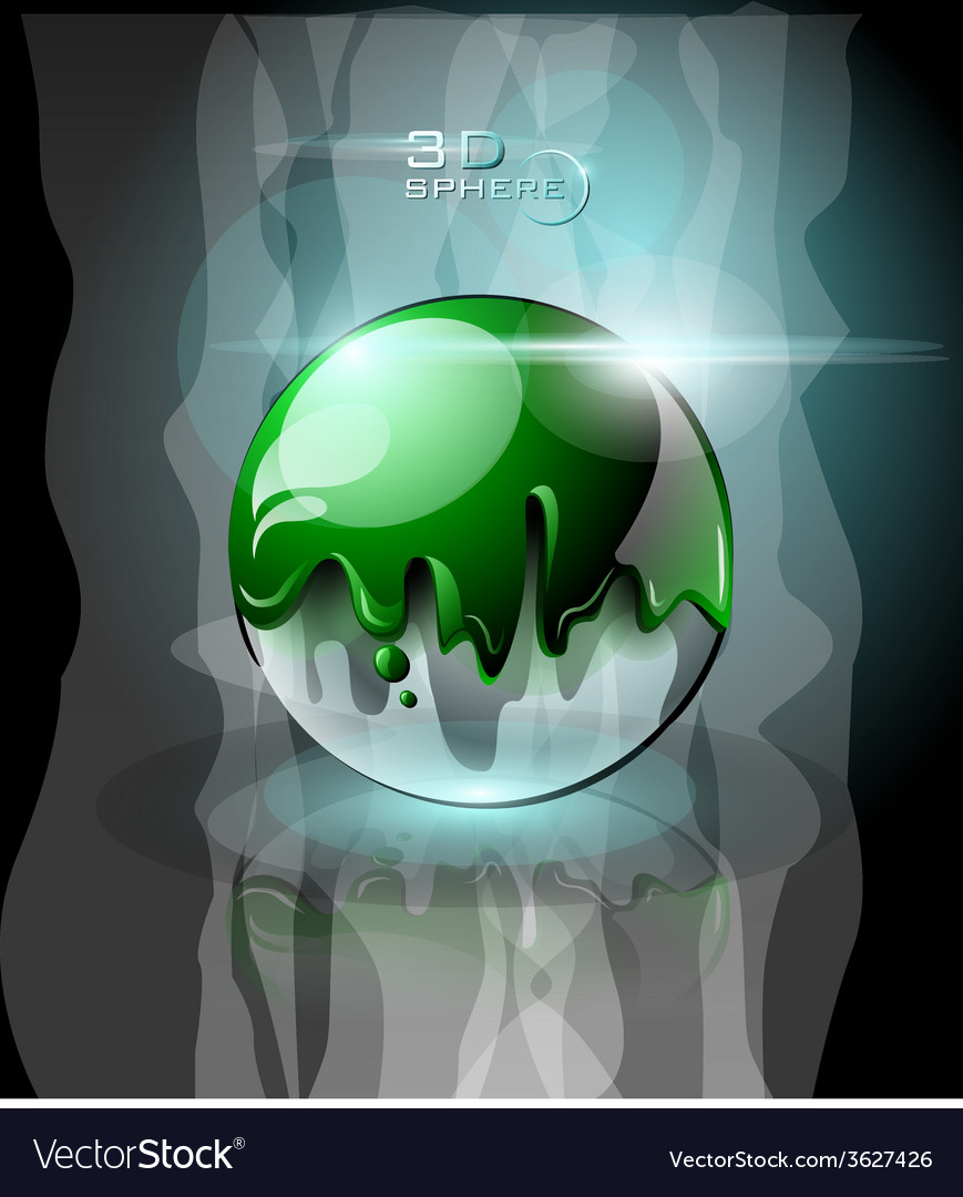Green splattered sphere icon with sparks vector | Price: 3 Credit (USD $3)