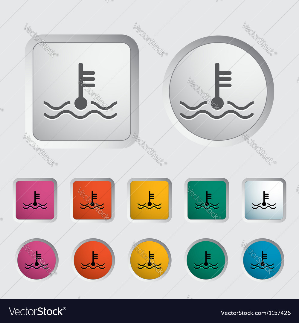 Icon of motor temperature vector | Price: 1 Credit (USD $1)