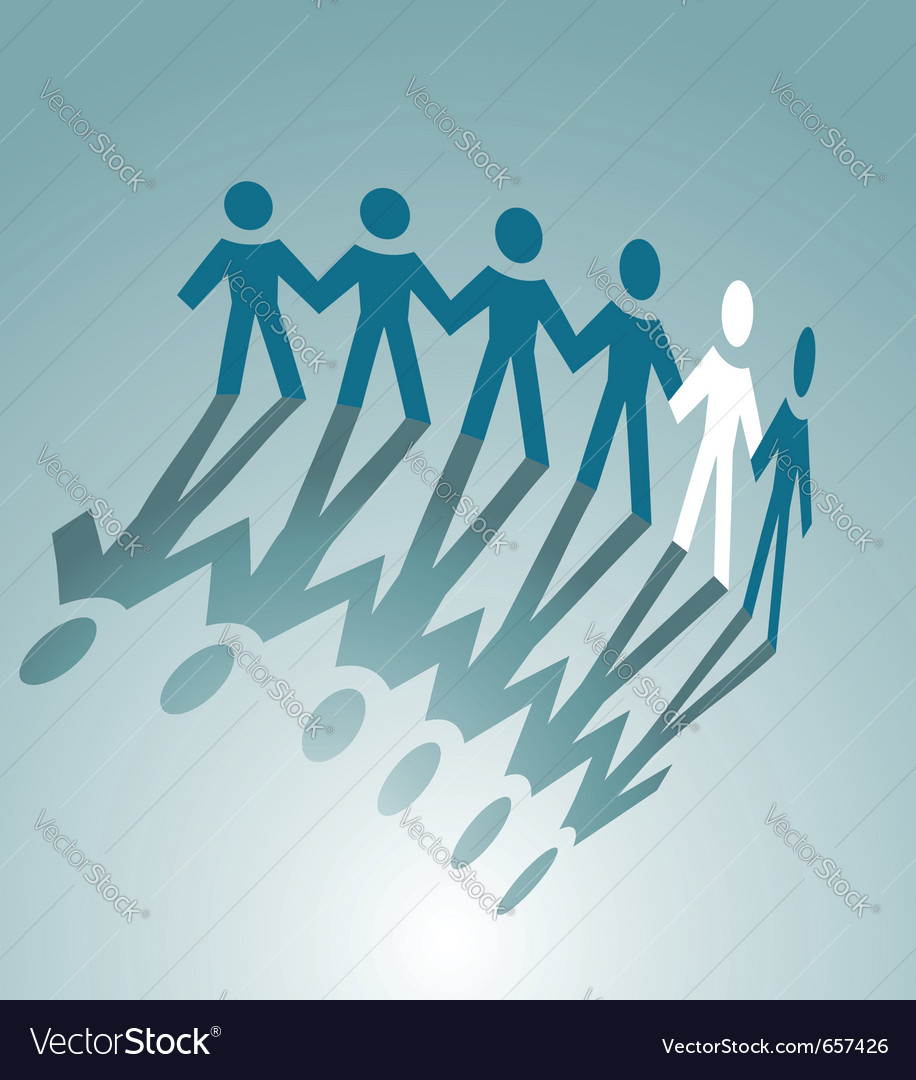 Paper cut people vector | Price: 1 Credit (USD $1)