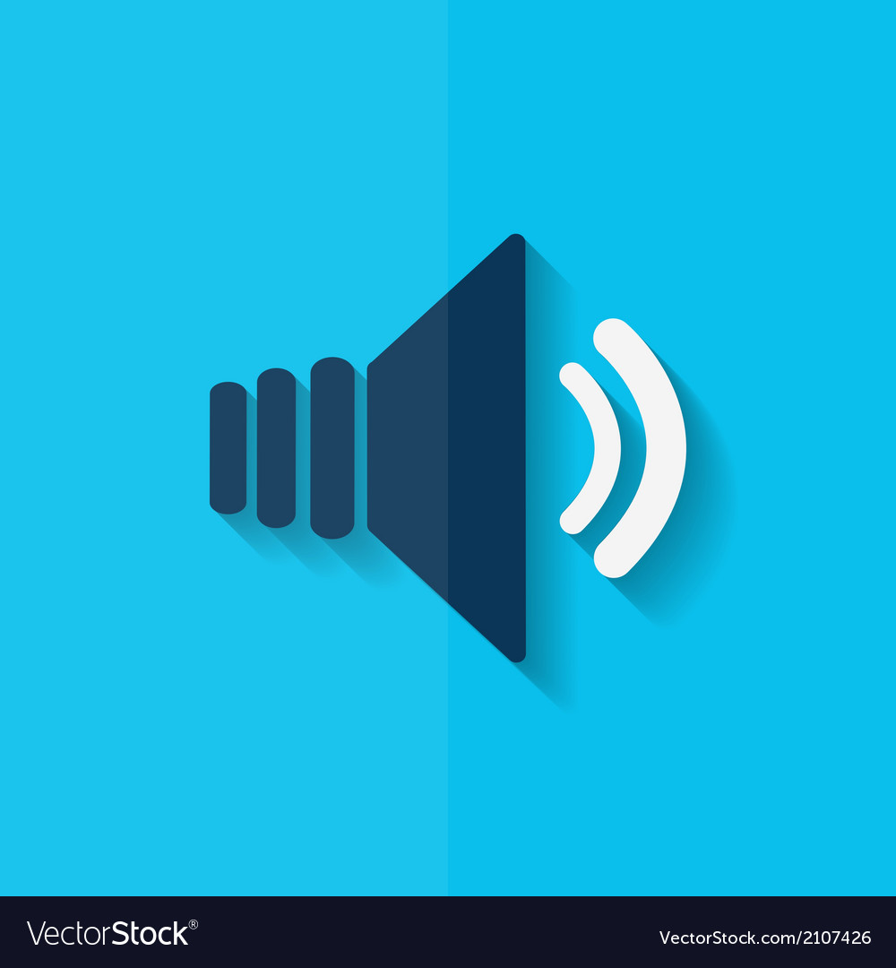 Speaker volume icon flat design vector   Price: 1 Credit (USD $1)