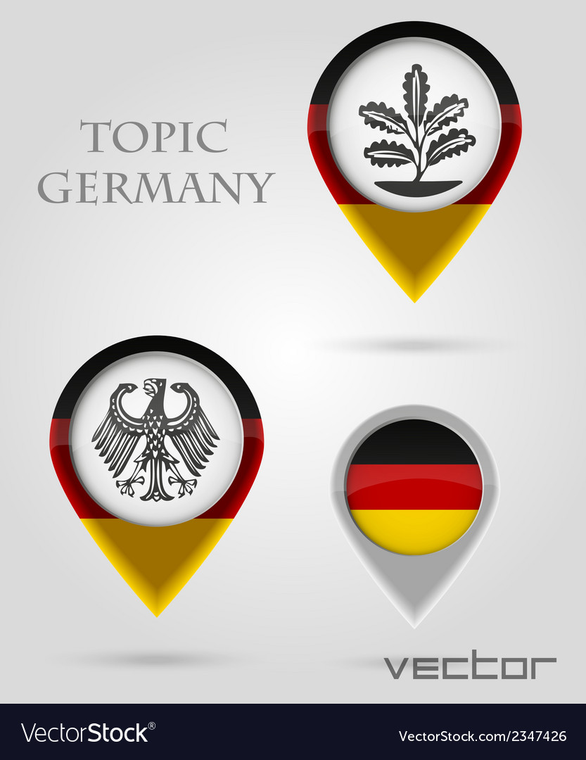 Topic germany map marker vector | Price: 1 Credit (USD $1)