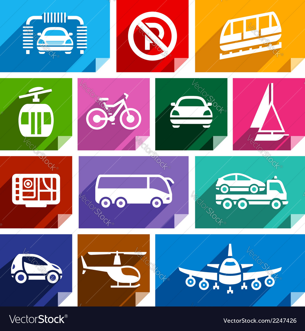 Transport flat icon bright color-06 vector | Price: 1 Credit (USD $1)