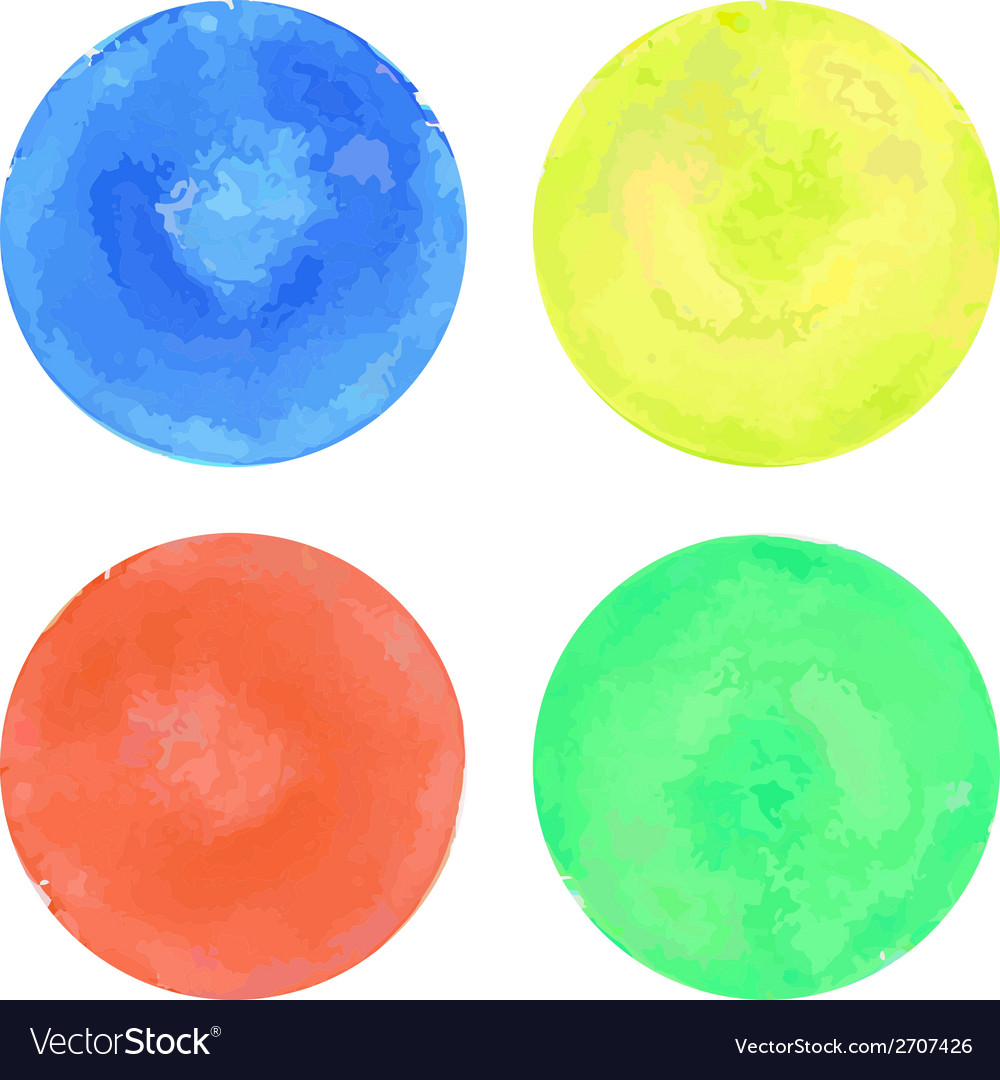 Watercolor circles set vector | Price: 1 Credit (USD $1)