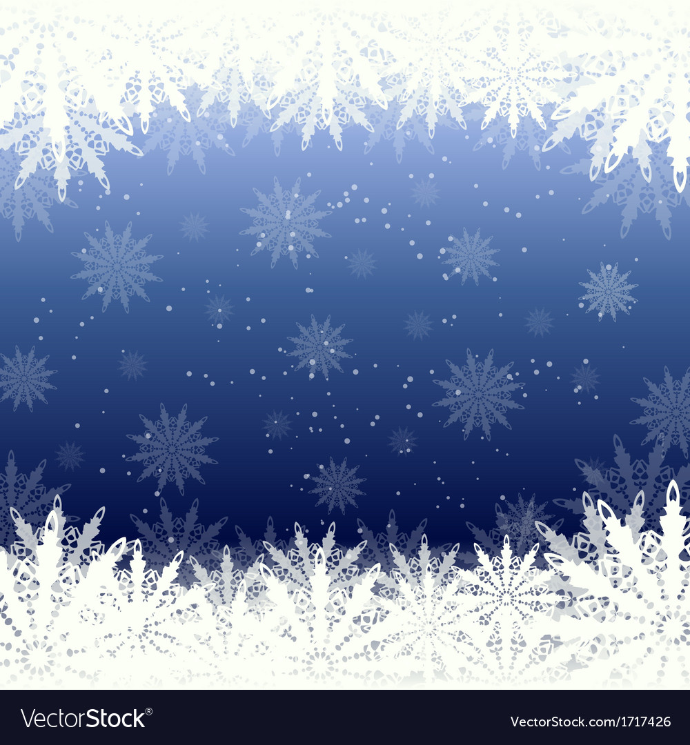 Winter background snow and snowflakes vector | Price: 1 Credit (USD $1)