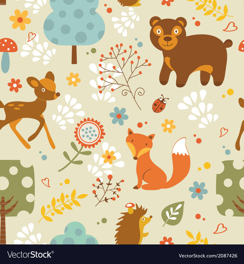 Woodland pattern vector | Price: 1 Credit (USD $1)