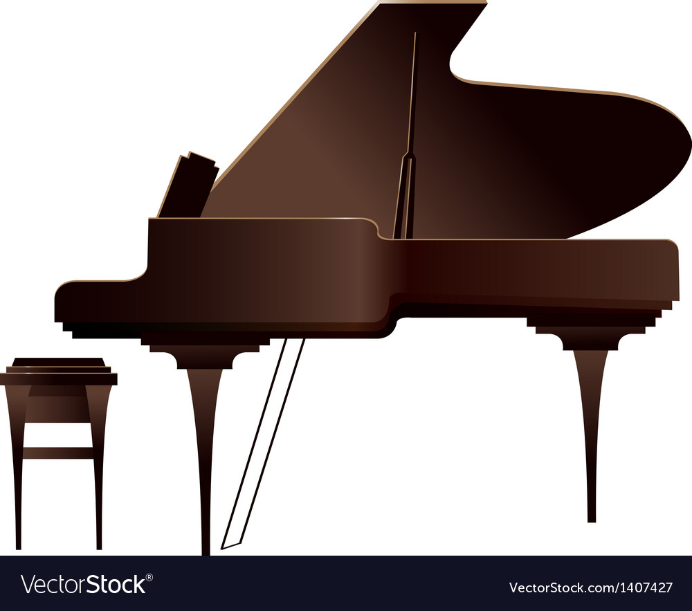 A piano is placed vector | Price: 1 Credit (USD $1)