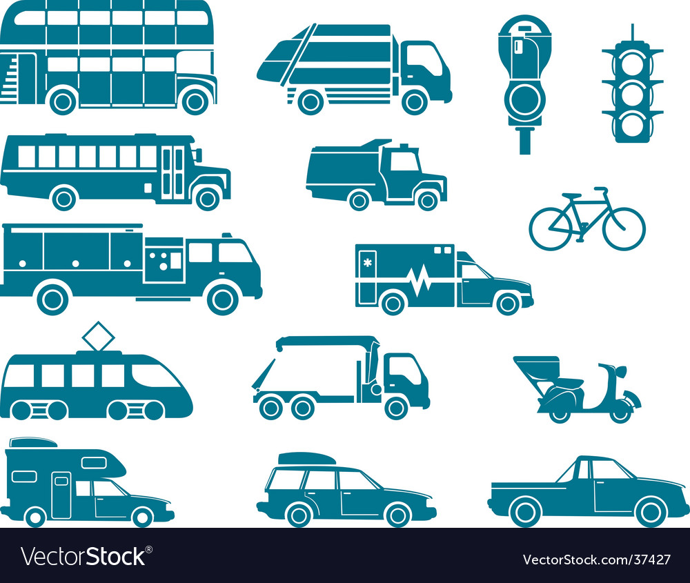 All types of city transport vector | Price: 1 Credit (USD $1)