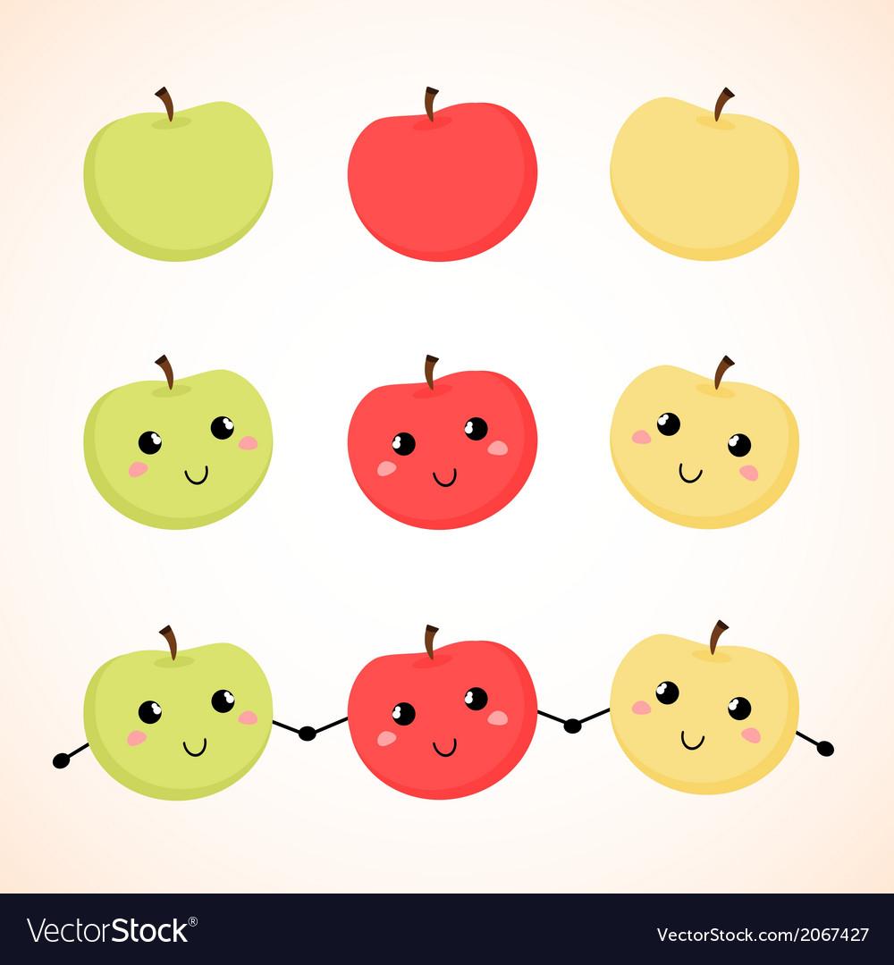 Apples vector | Price: 1 Credit (USD $1)