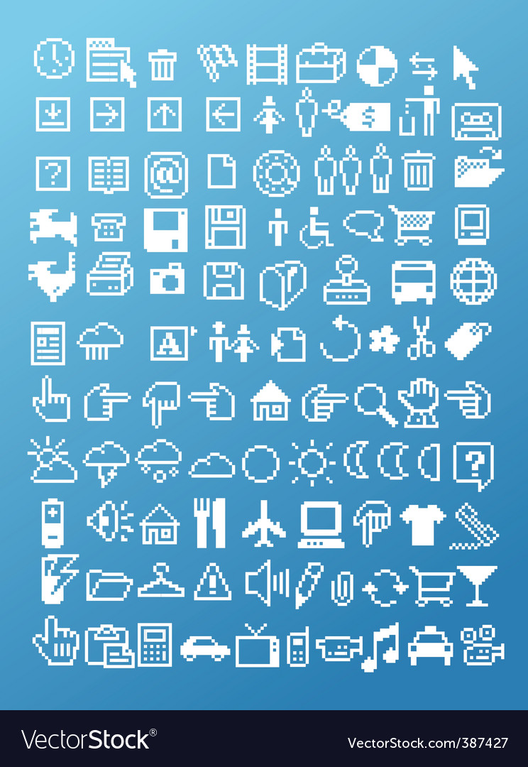 Assorted icons vector | Price: 1 Credit (USD $1)