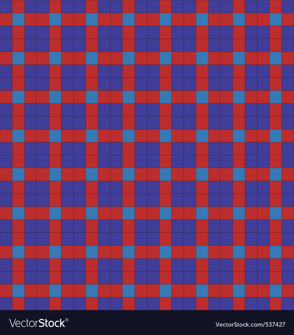 Blue and red symmetrical checkered plaid vector | Price: 1 Credit (USD $1)