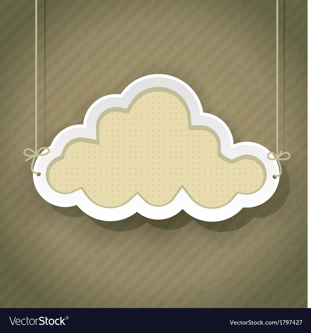 Cloud retro2 01 vector | Price: 1 Credit (USD $1)