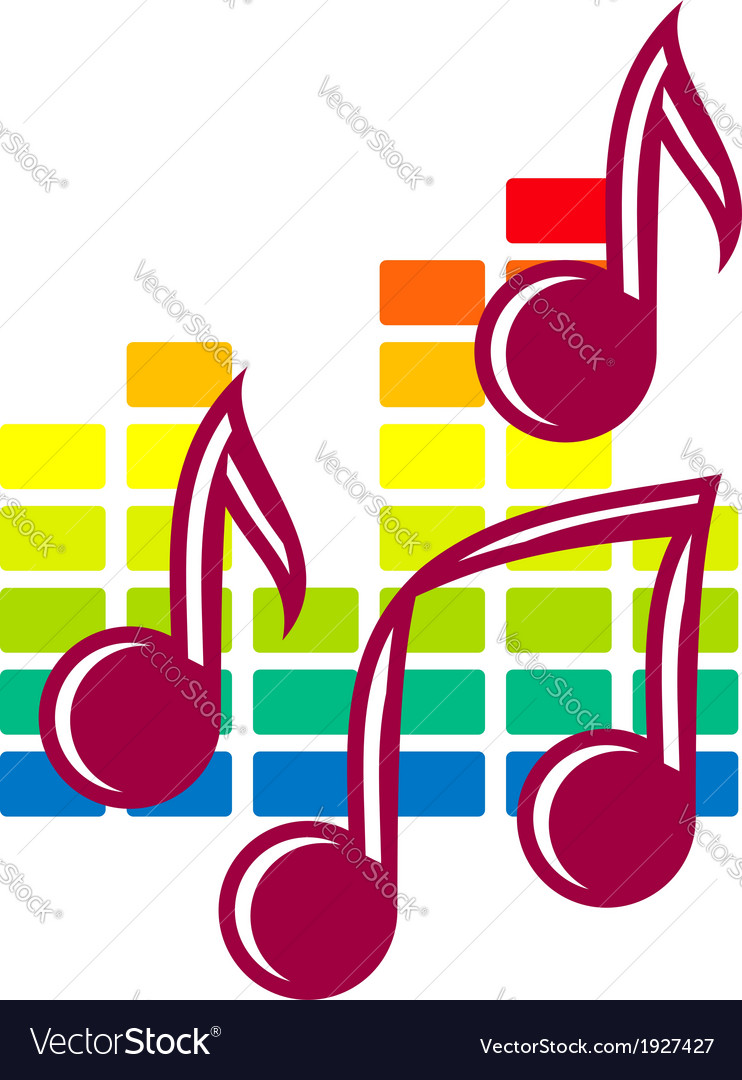 Festival or party icon with music notes vector | Price: 1 Credit (USD $1)