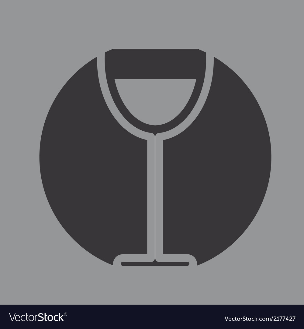 Glass of wine icon symbol vector | Price: 1 Credit (USD $1)