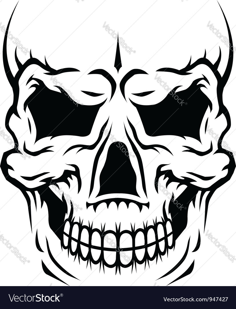 Human skull vector | Price: 1 Credit (USD $1)