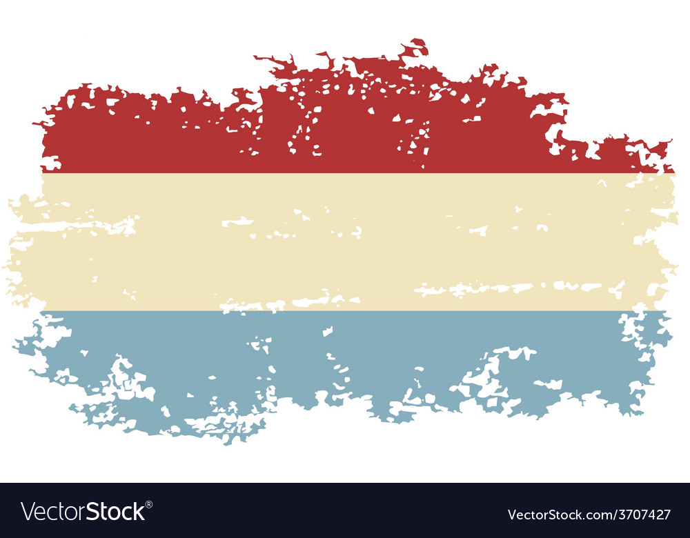 Luxembourg grunge flag vector | Price: 1 Credit (USD $1)