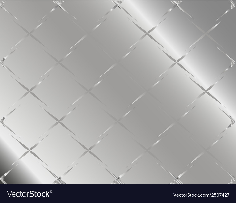 Metal background or texture of checked aluminium p vector | Price: 1 Credit (USD $1)