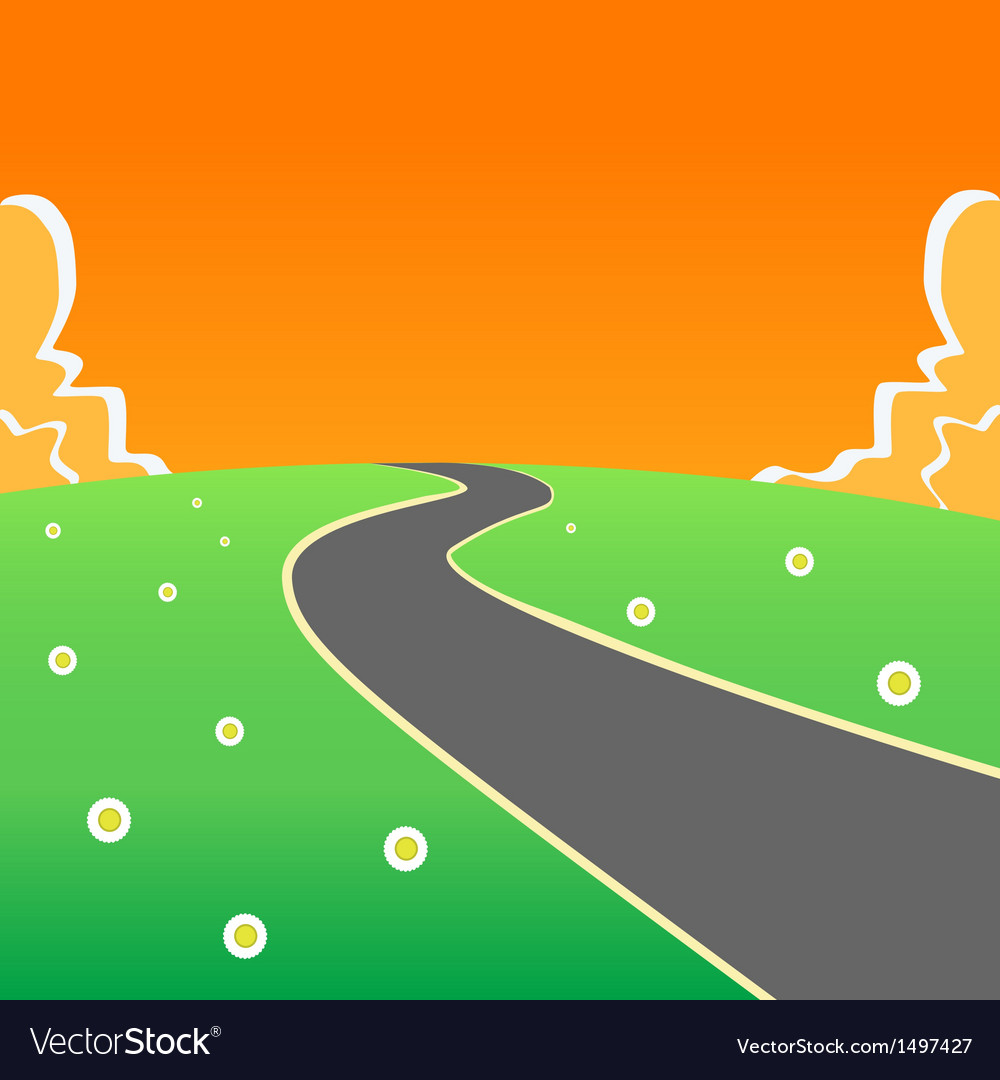 Road into the unknown vector   Price: 1 Credit (USD $1)