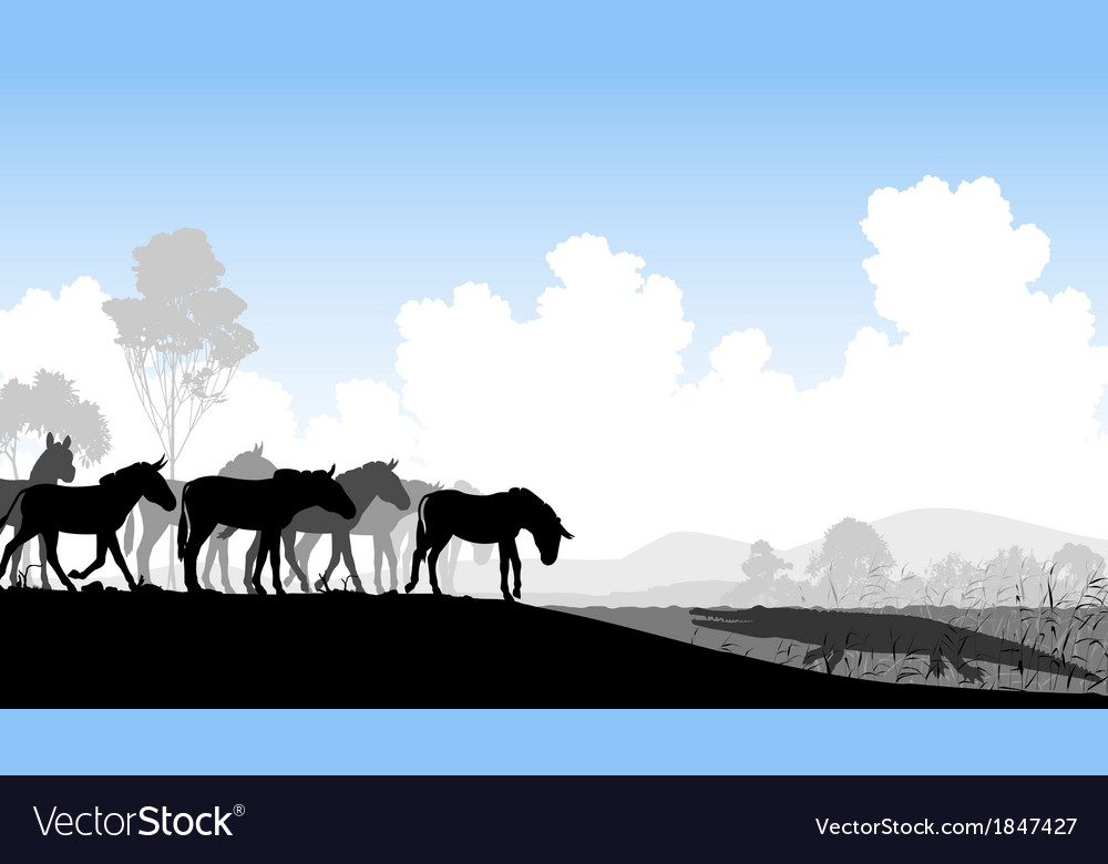 Watering hole vector | Price: 1 Credit (USD $1)