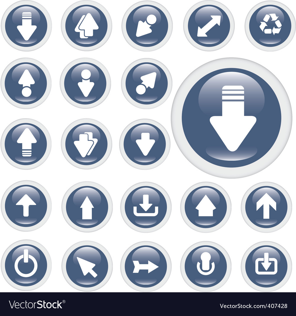 Arrow glossy buttons vector   Price: 1 Credit (USD $1)