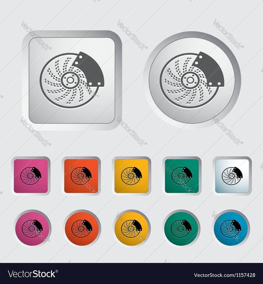 Automobile brakes single icon vector | Price: 1 Credit (USD $1)