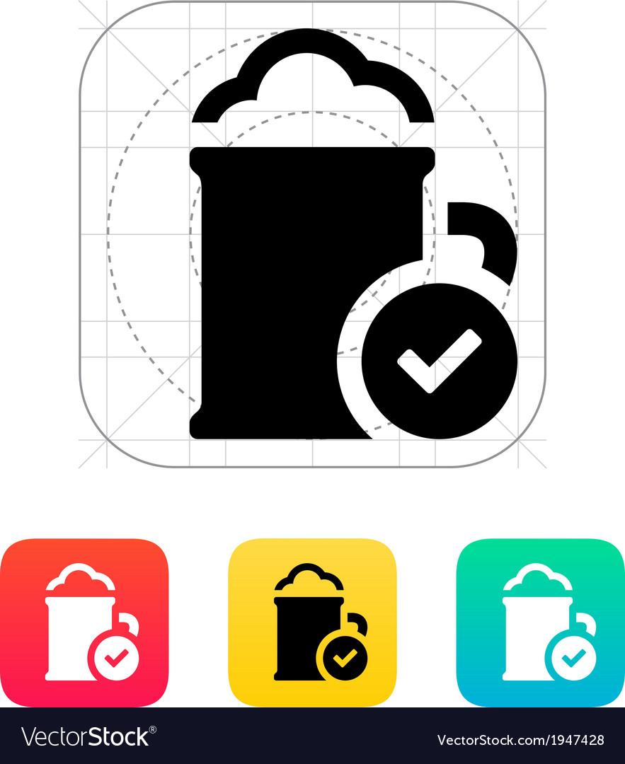 Beer mug icon vector | Price: 1 Credit (USD $1)