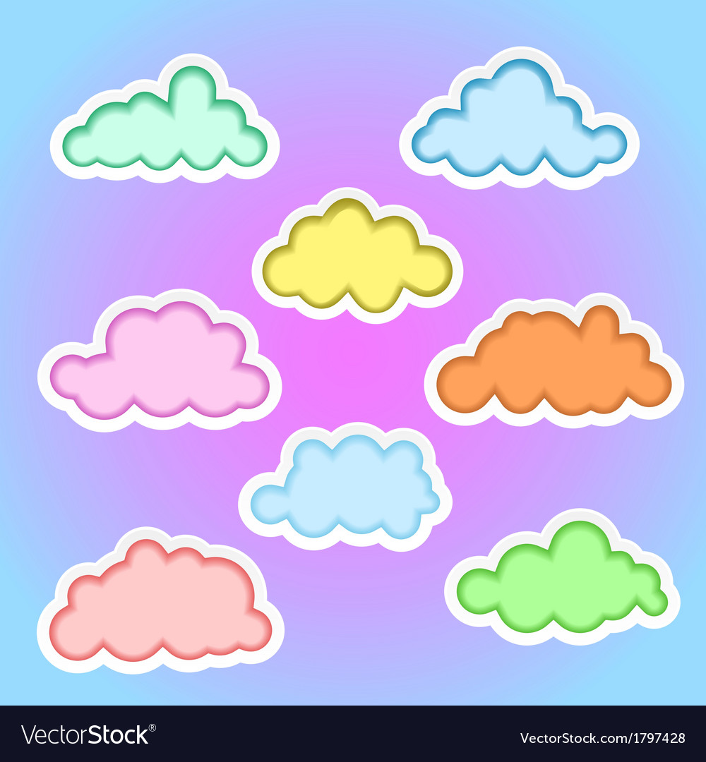 Clouds elements1b vector | Price: 1 Credit (USD $1)