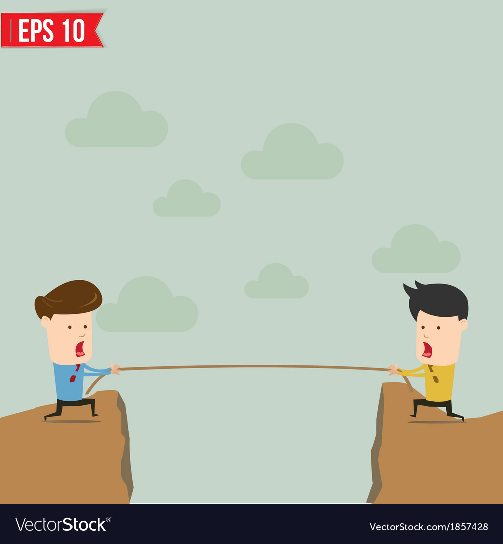 Confrontation between two business people vector | Price: 1 Credit (USD $1)