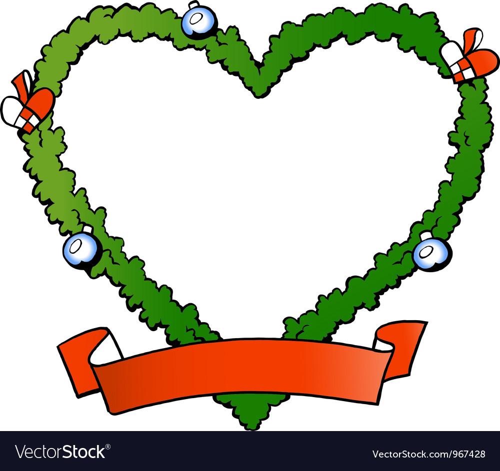 Hand-drawn of an christmas decoration fraim vector | Price: 1 Credit (USD $1)