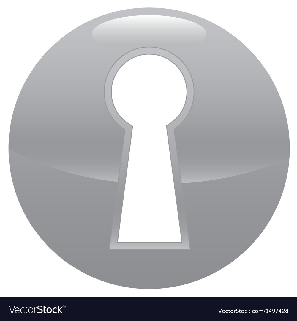 Keyhole gray icon vector | Price: 1 Credit (USD $1)