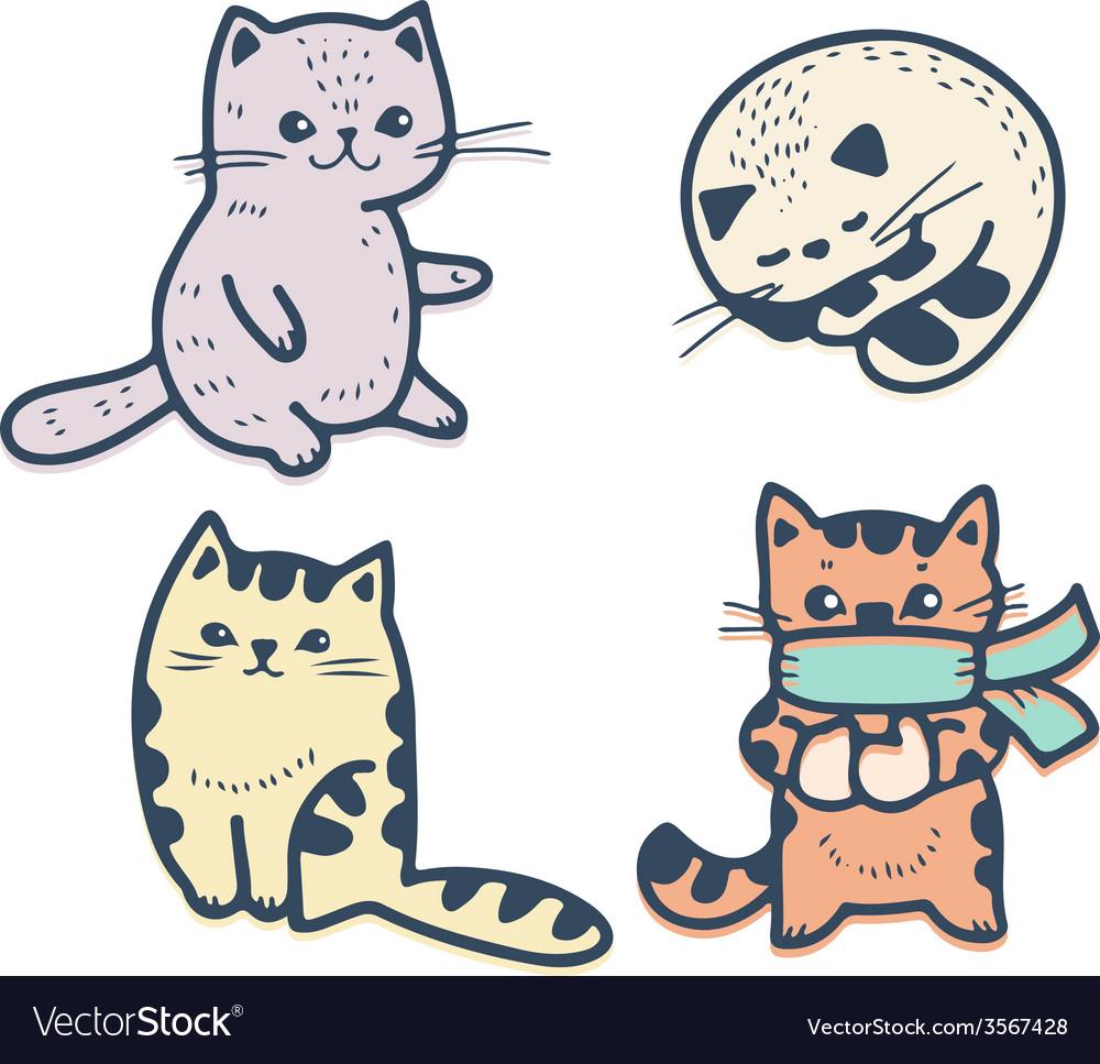 Kittens vector | Price: 1 Credit (USD $1)