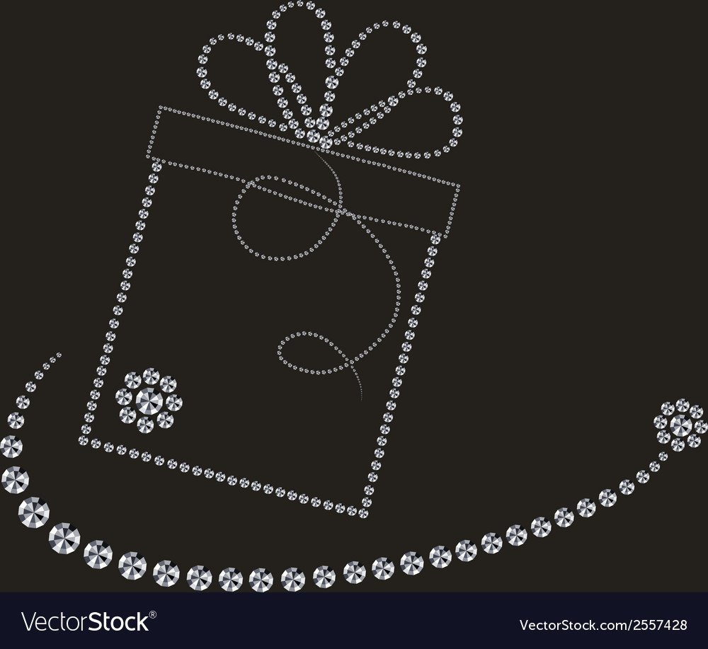 Luxury label with gift box vector | Price: 1 Credit (USD $1)