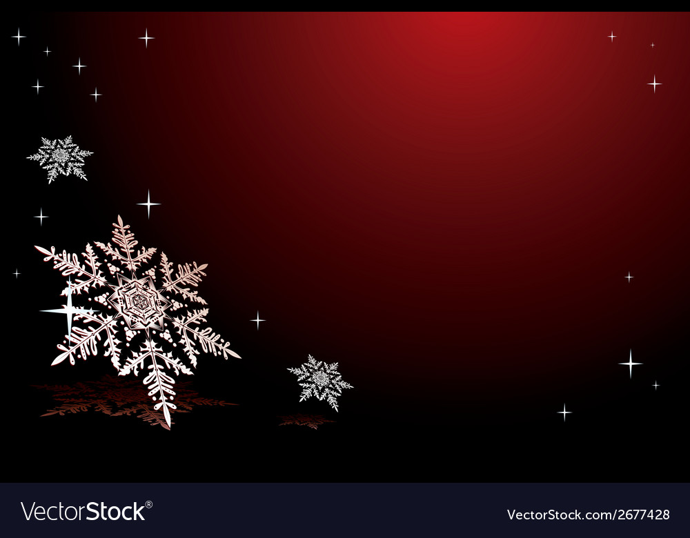 Snowflakes on red vector | Price: 1 Credit (USD $1)