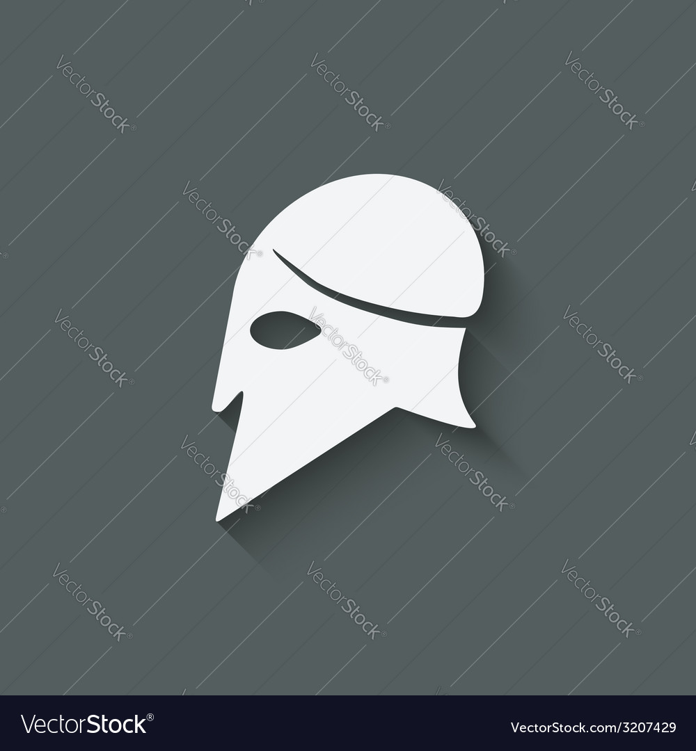 Antique helmet symbol vector | Price: 1 Credit (USD $1)