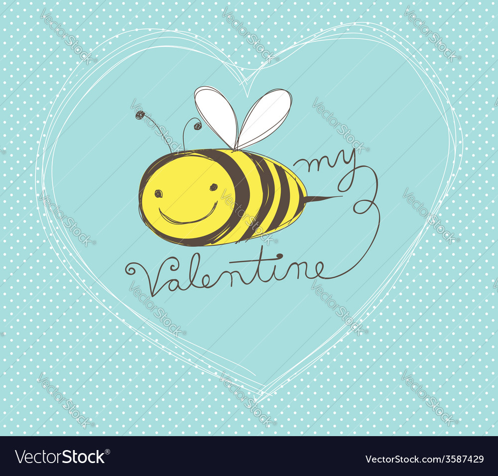 Bee my valentine vector | Price: 1 Credit (USD $1)
