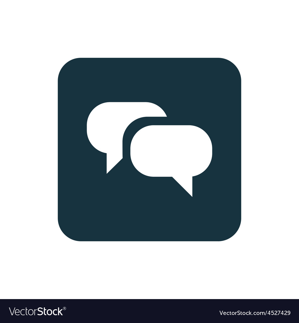 Conversation icon rounded squares button vector | Price: 1 Credit (USD $1)