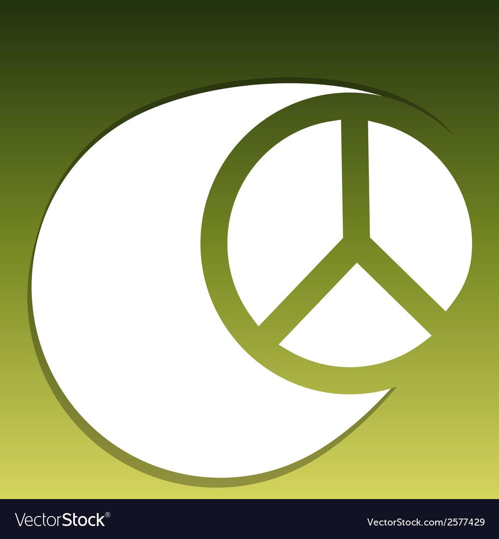 Hippie symbol vector | Price: 1 Credit (USD $1)