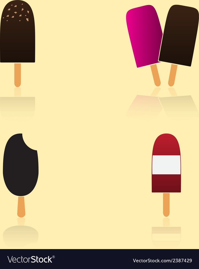 Ice lolly types eps10 vector | Price: 1 Credit (USD $1)