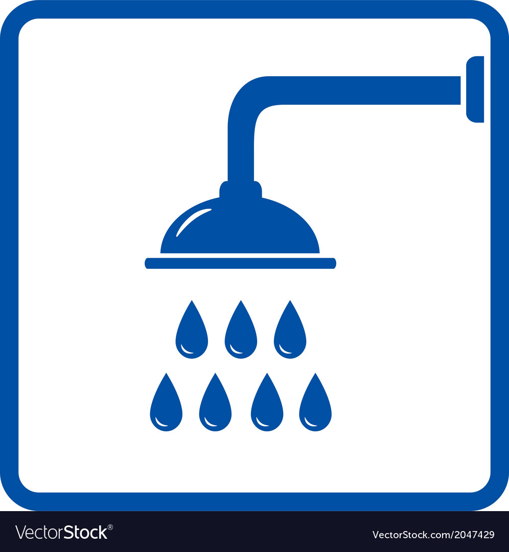 Icon with shower head vector | Price: 1 Credit (USD $1)