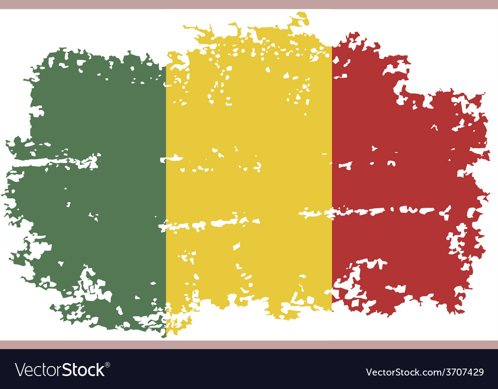 Mali grunge flag vector | Price: 1 Credit (USD $1)