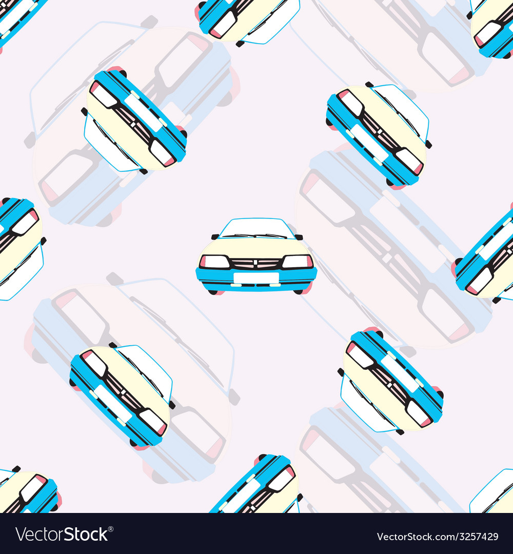 Seamless background with kids toy cars vector | Price: 1 Credit (USD $1)